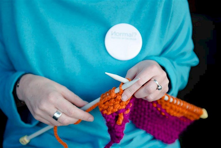 Dementia Dialogue // Knitting for Well-being - Jane Unsworth