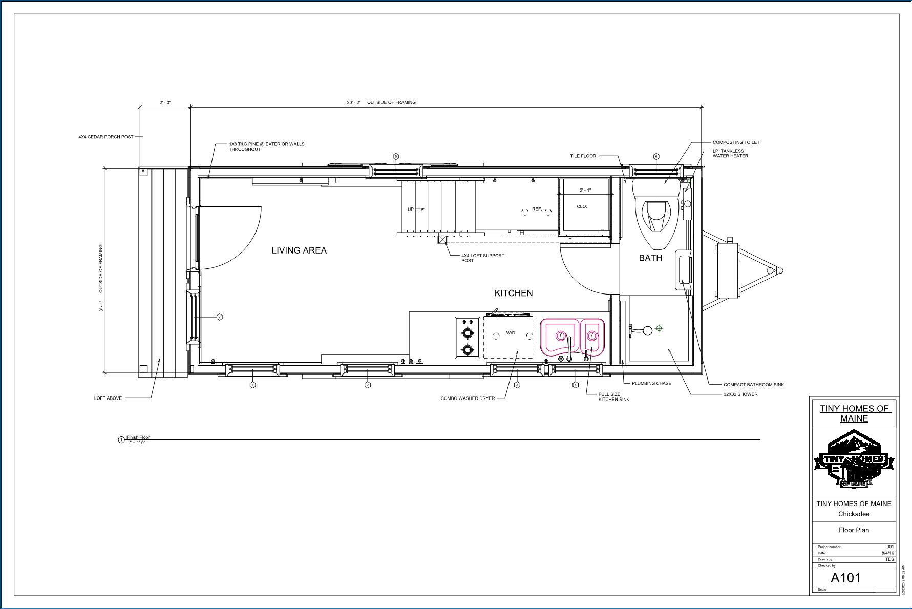 Tiny Home Floor Plans Tiny Homes Of Maine