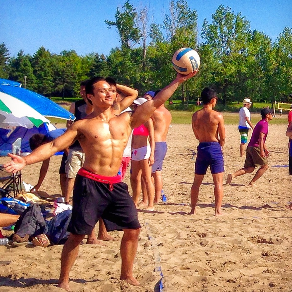 Volleyball. My favourite activity besides reading.