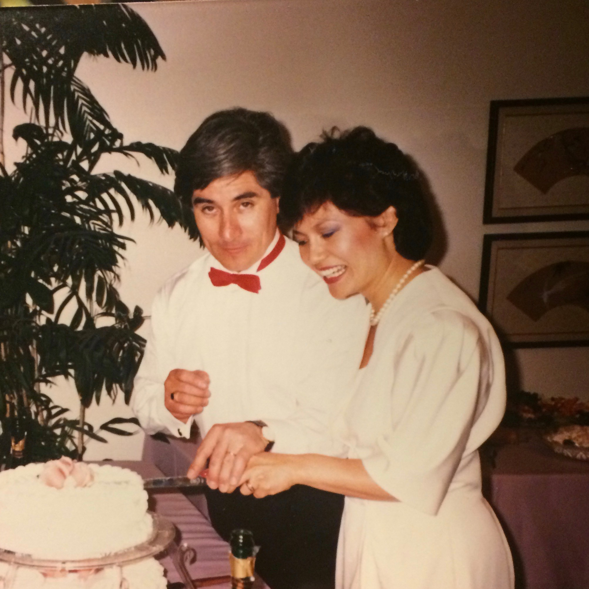 One of the handful of photos of my mom and dad together.. This must have been 1987.