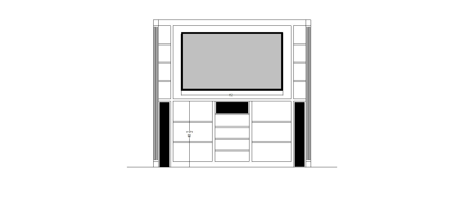 PLans for the television cabinet.