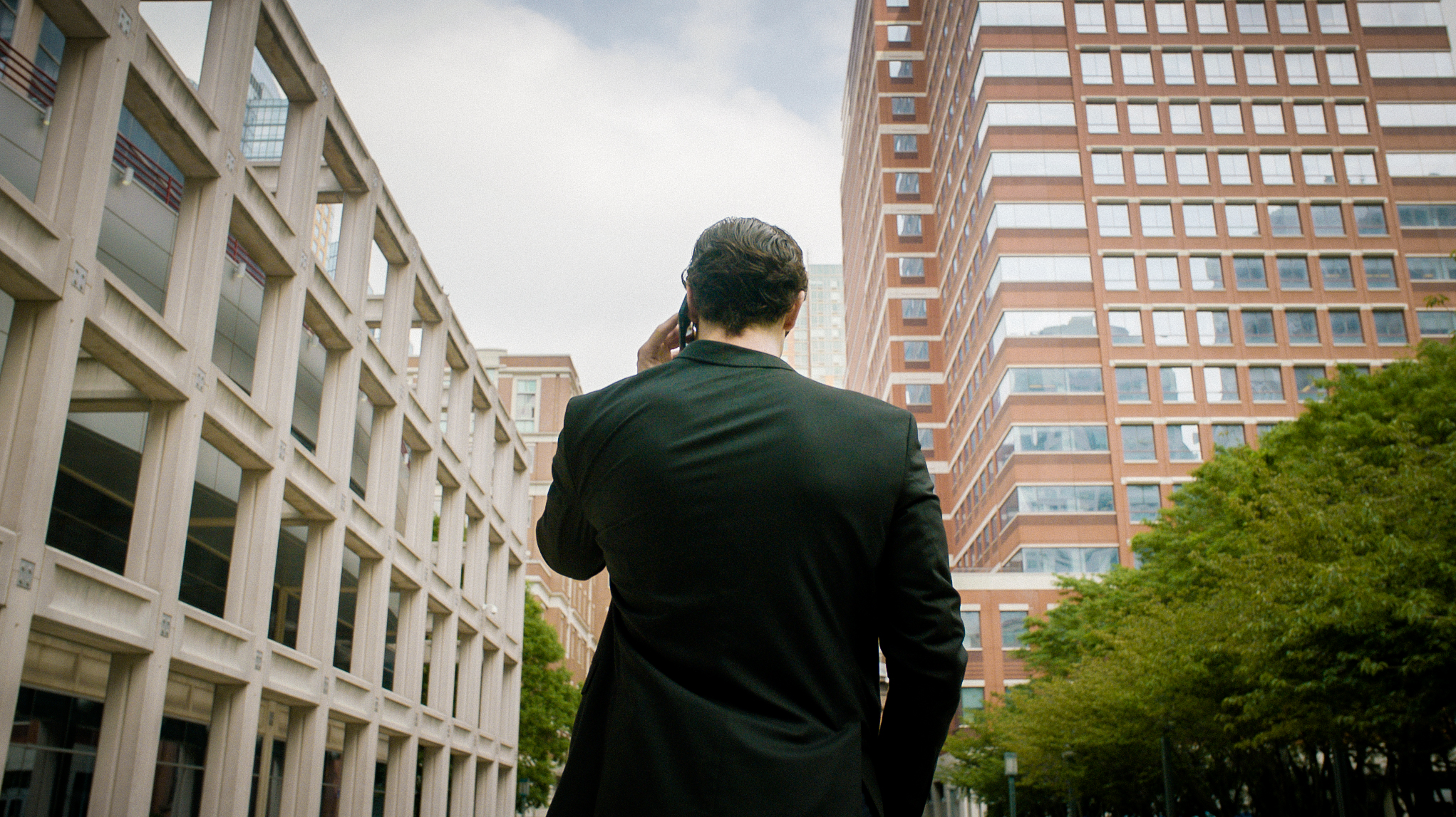 Max Bryson (Ethan Peck) takes a call.