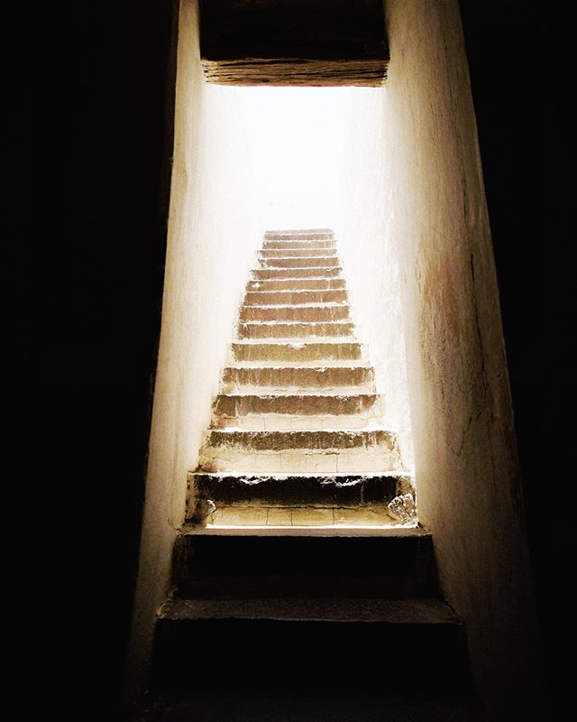 Golconda Stairwell. Golconda Fort, Hyderabad, India.