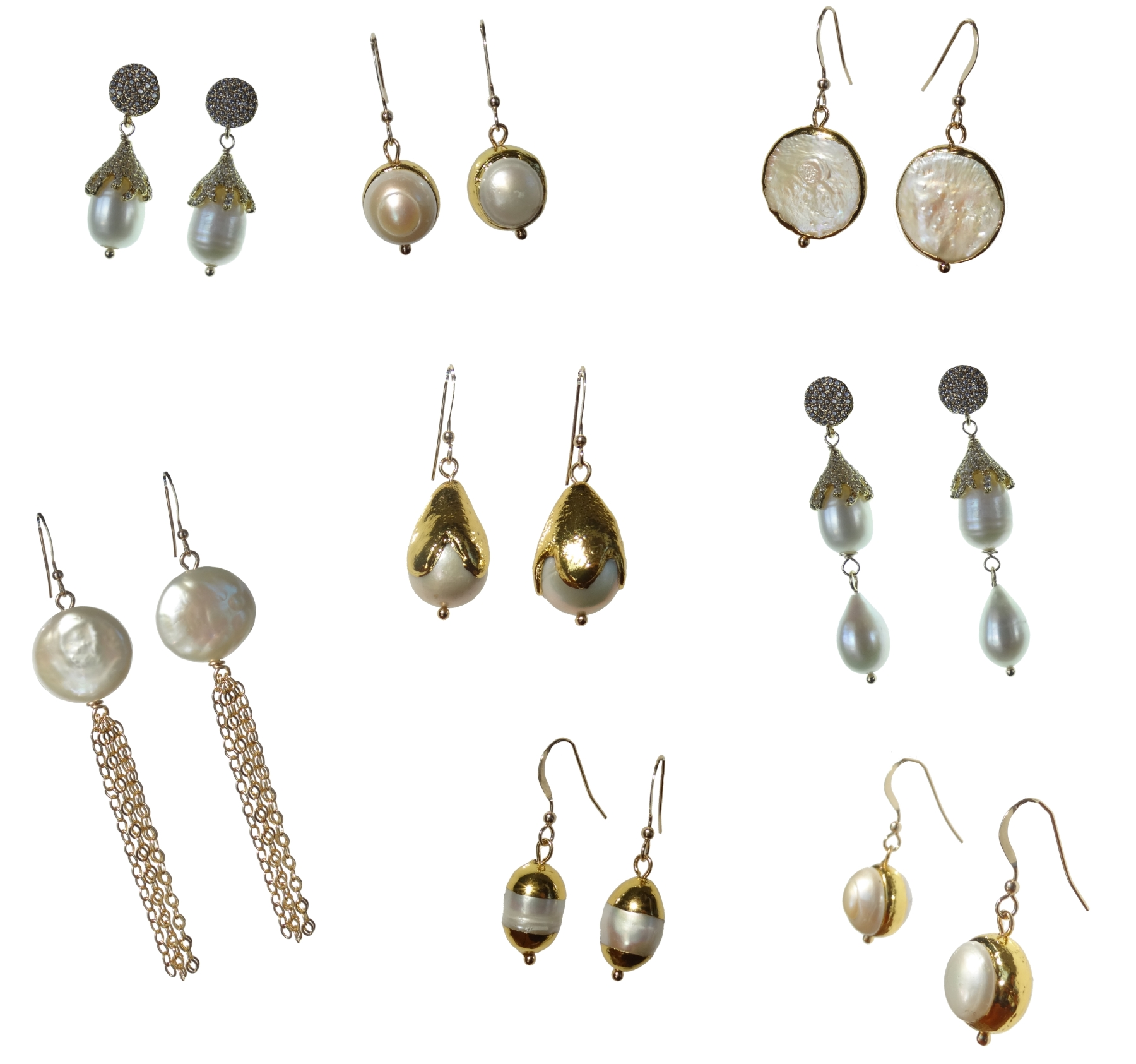 La Perle Collection - Authentic Pearls Detailed with GoldClassic, Sophisticated & ElegantEvery woman needs PEARL earrings!!