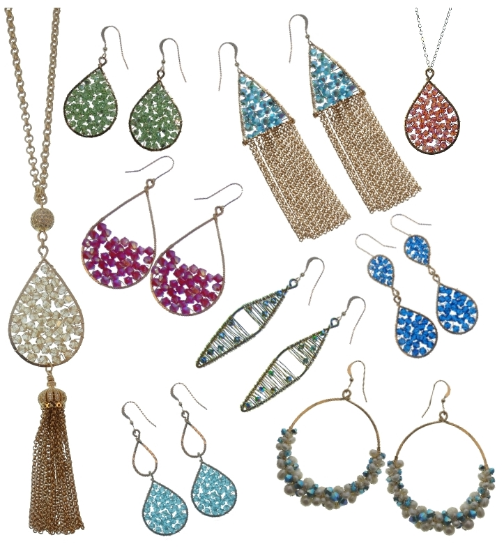 Wholesale Goddess Collection - Our signature and best selling collection. Completely hand-crafted in our Miami Studio. Over 20 Swarovski Colors to choose from. Available in 14k Gold Filled or Sterling Silver