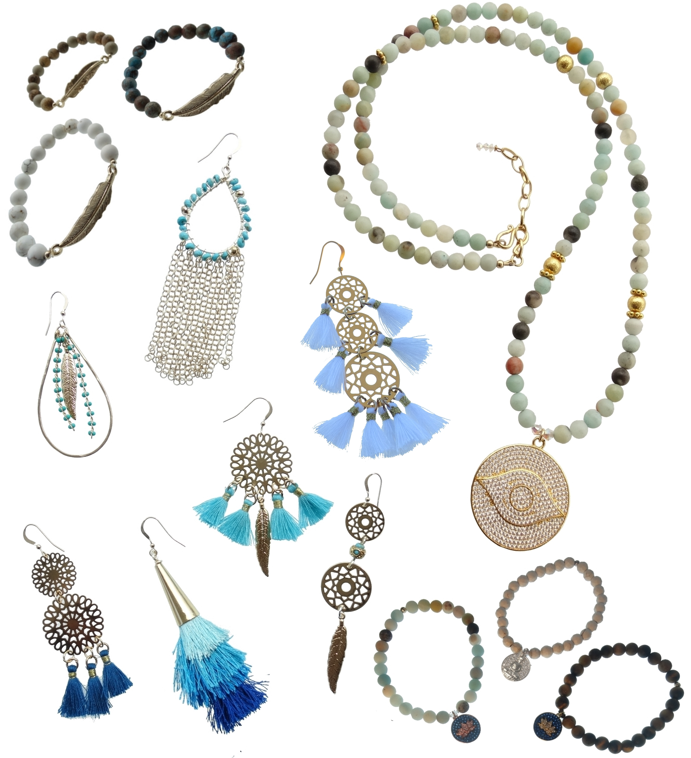 Wholesale Boho Glam Collection - Authentic Stones, Tassels, Mandalas and a bit of Sparkle create our Boho Glam Collection. Always growing so check in often for New Designs.