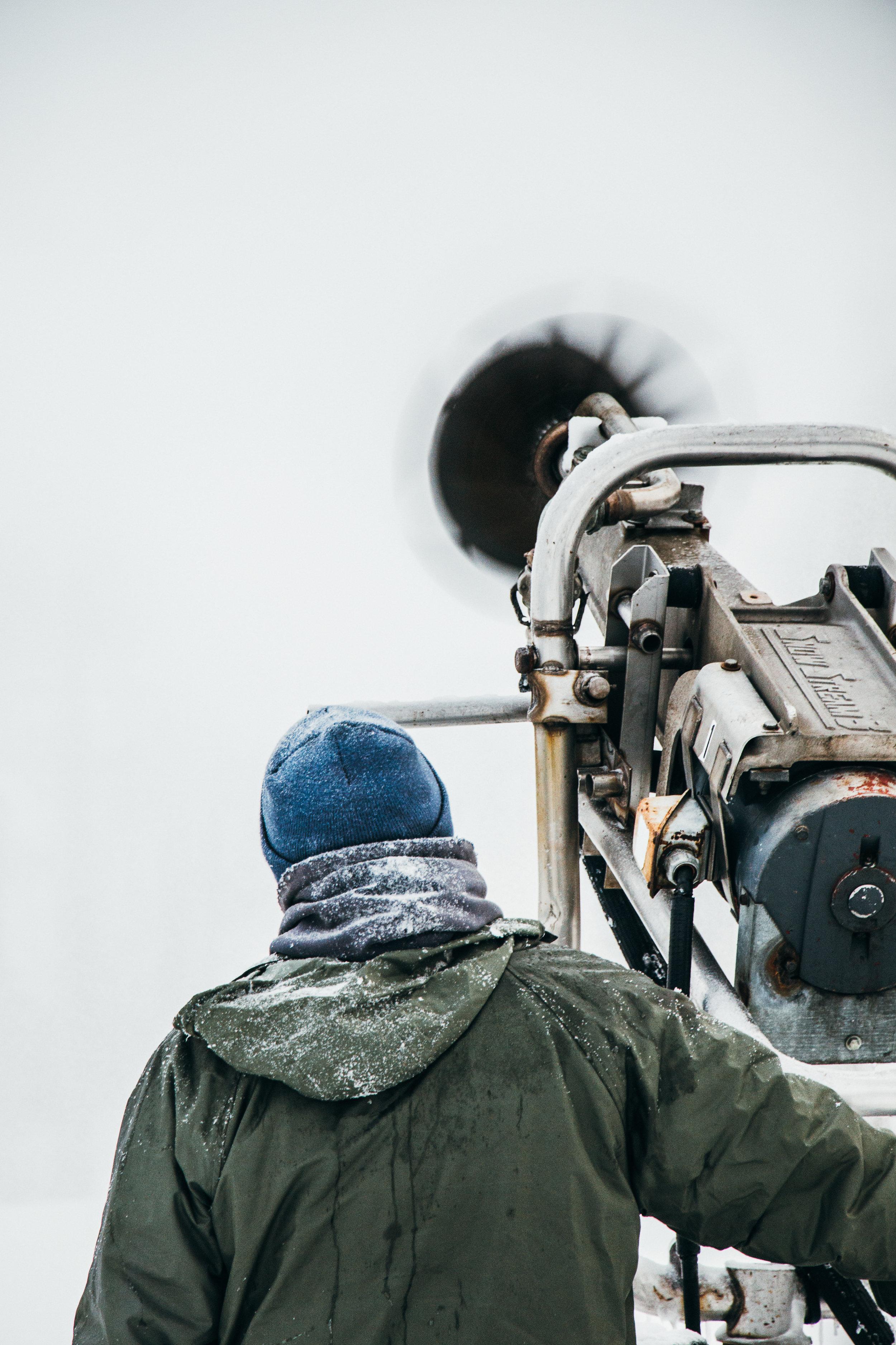 Snowmaking at Christie Mountain