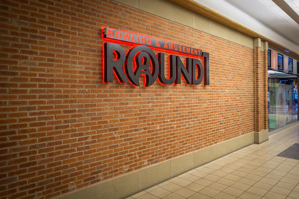 Round1 Bowling & Amusement Wall