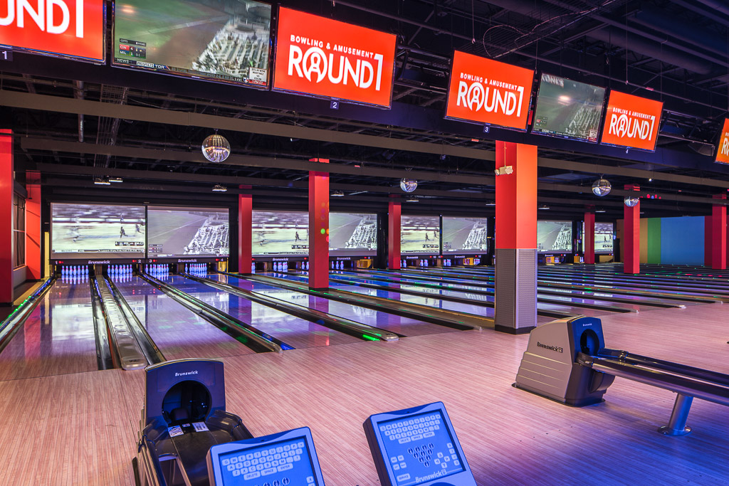 Round1 Bowling & Amusement Bowling Alley Side View