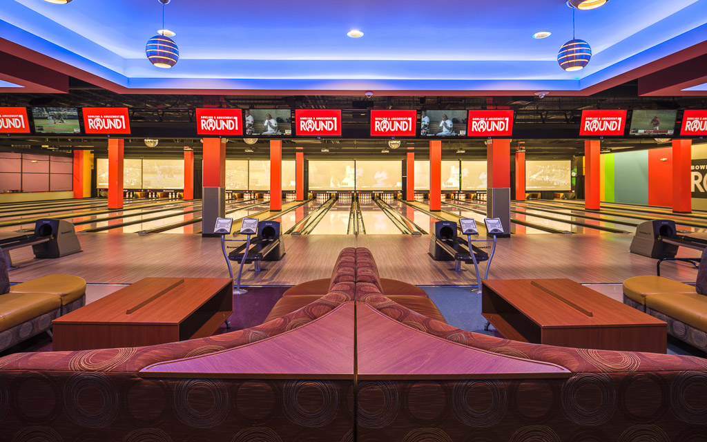Round1 Bowling & Amusement Bowling Alley Front View
