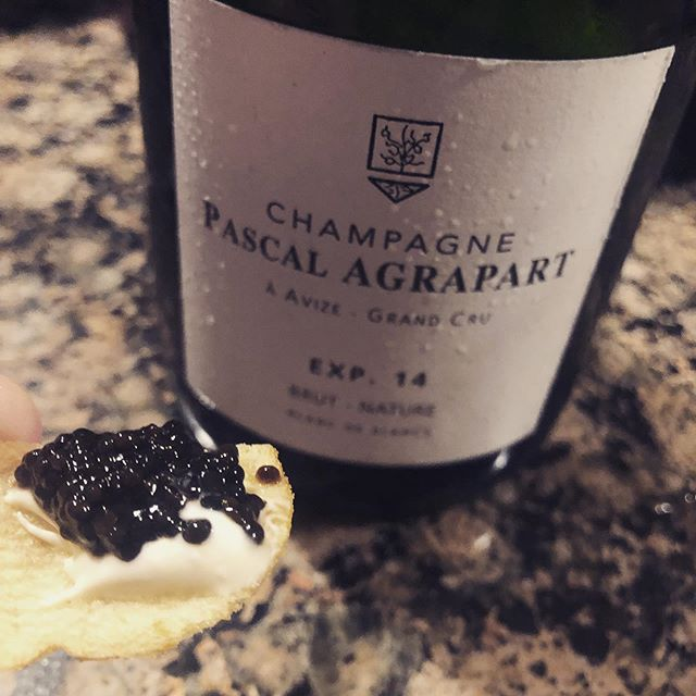 It's on: the Chicago champagne group is back in action tonight! It kicks off with Agrapart, truffle chips, and caviar. After 10 years together, you know just how to do it!  #champagne #tastinggroup #bubblyothèqueandfriends #chicago #agrapart #experience