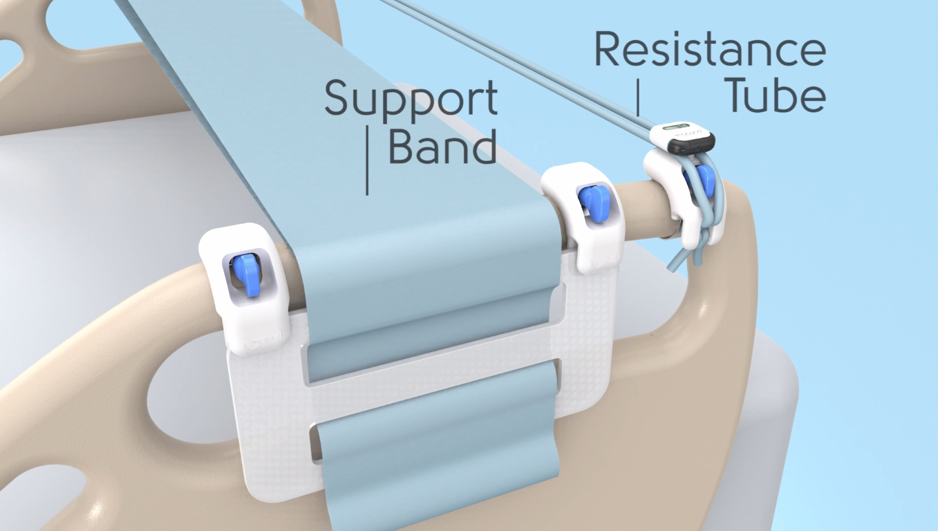 The Rebound Rehab Unit comprises of two elements, a  Resistance Tube  and a  Support Band ,