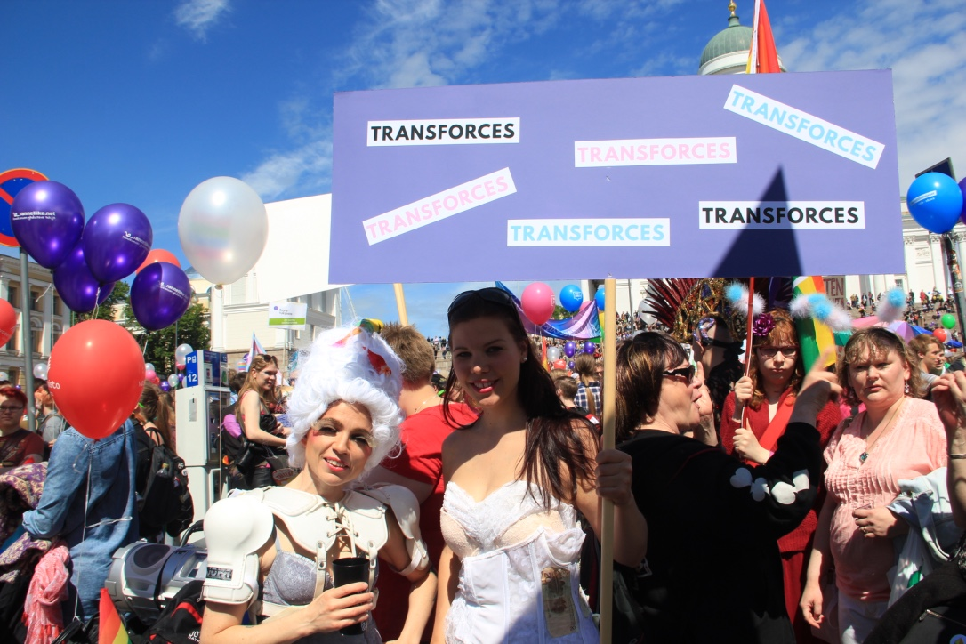 Transforces at Hki Pride 2015 parade