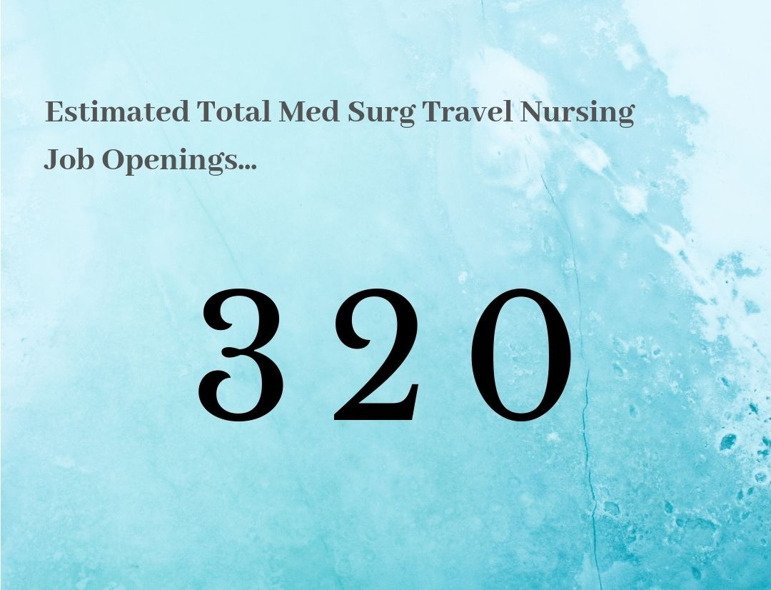 🔥 What this means for Med Surg Travel Nures… - The market is HOT for Med Surg Travel Nurses. Although we've seen more previously, this is still a great outlook! The more jobs in the system means more chances to land your dream job! We say it's time to get talking to a recruiter and land that dream job!