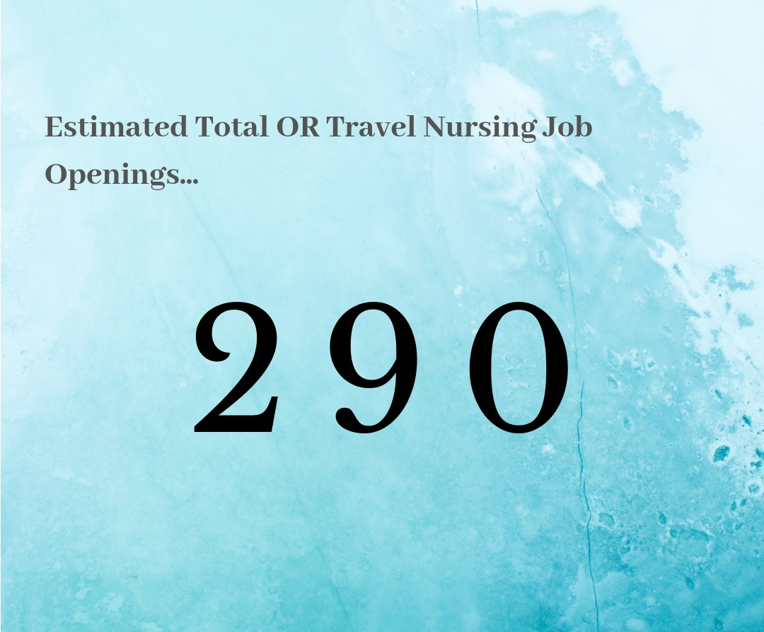 What this means for OR Travel Nurses… - It's still warm out there, but we have seen it be hotter the first half of this year. It may be time to be more flexible in your location or start date, do some license research and still stay active on your job search. Opportunities are out there!