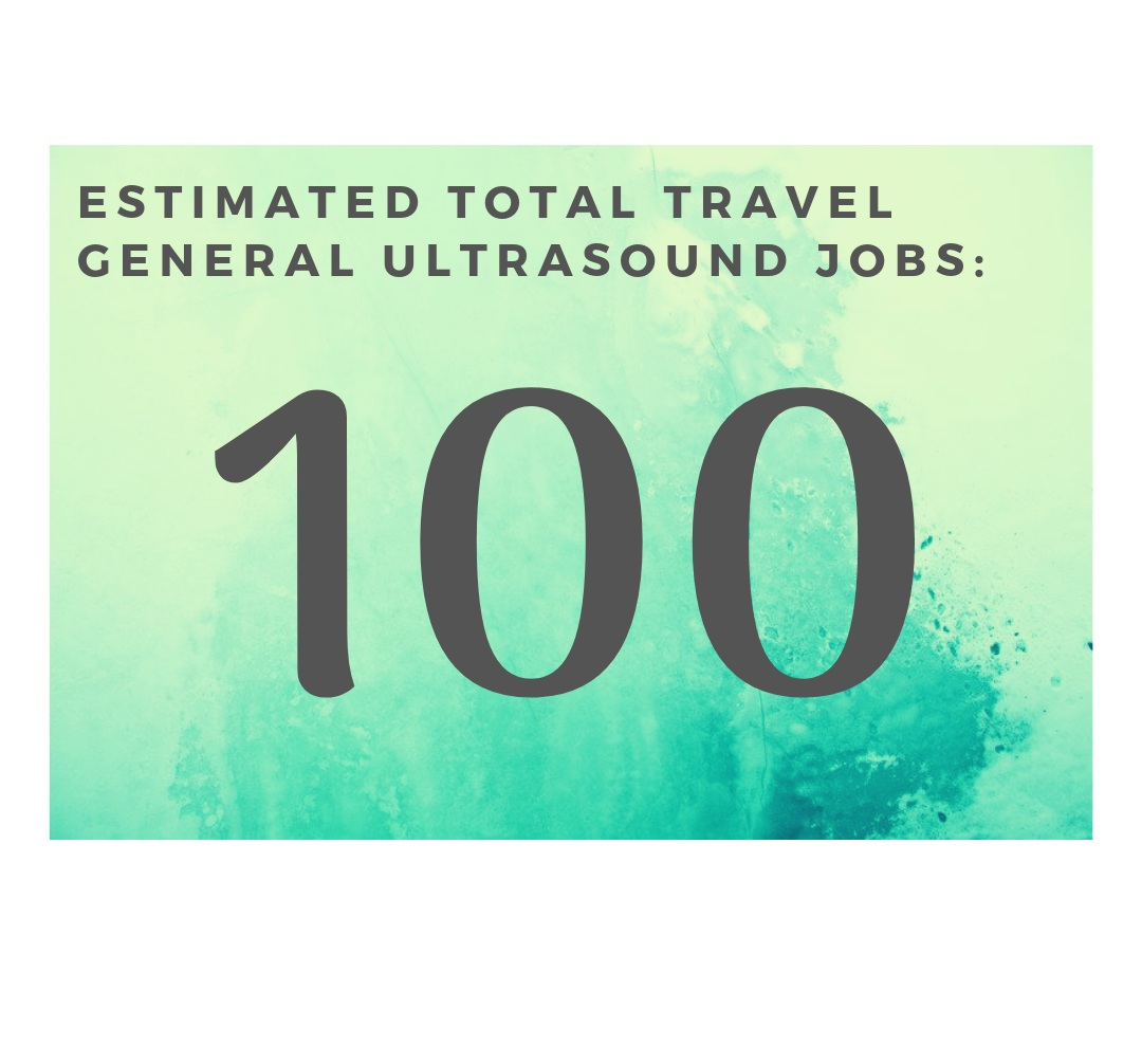 What this means for our Travel Sonographers - 🔥 Having 100 travel job openings in general ultrasound is great news for our Travel Ultrasonographers! This means lots of opportunities across many states. We think it's time to get ready for an adventure!