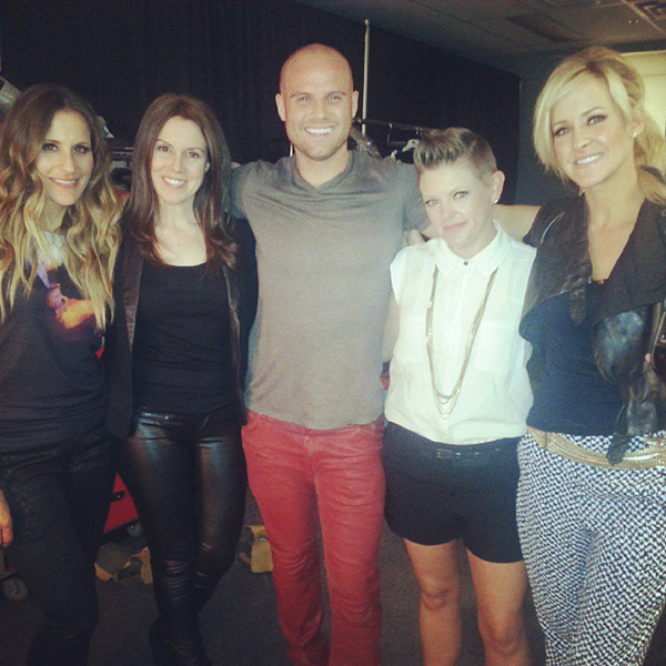 Heath and his friend Cynthia with the Chicks in Vancouver