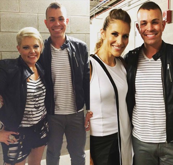 Ryan backstage with Natalie & Emily