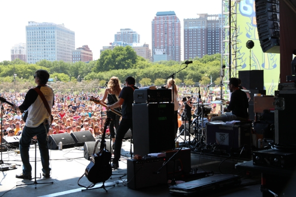 Backstage with Court Yard Hounds at Lollapalooza