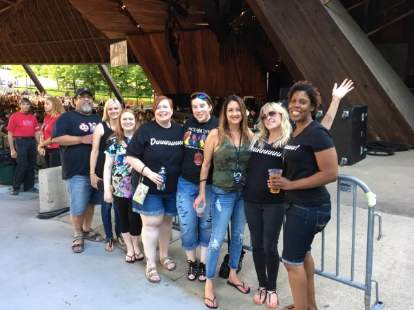 Michaela with other DCX Superfans in Cleveland