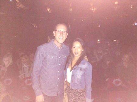 Jenelle with fellow superfan Brad at the Chicks Vancouver show in 2013