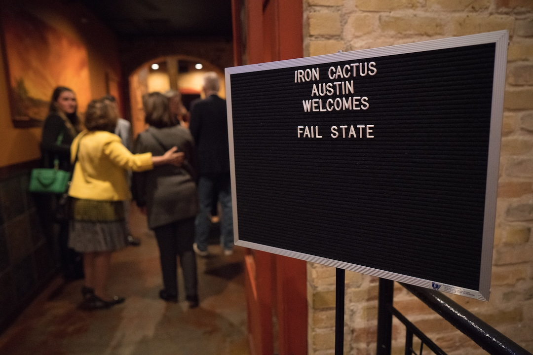 Fail State Cocktail Reception.