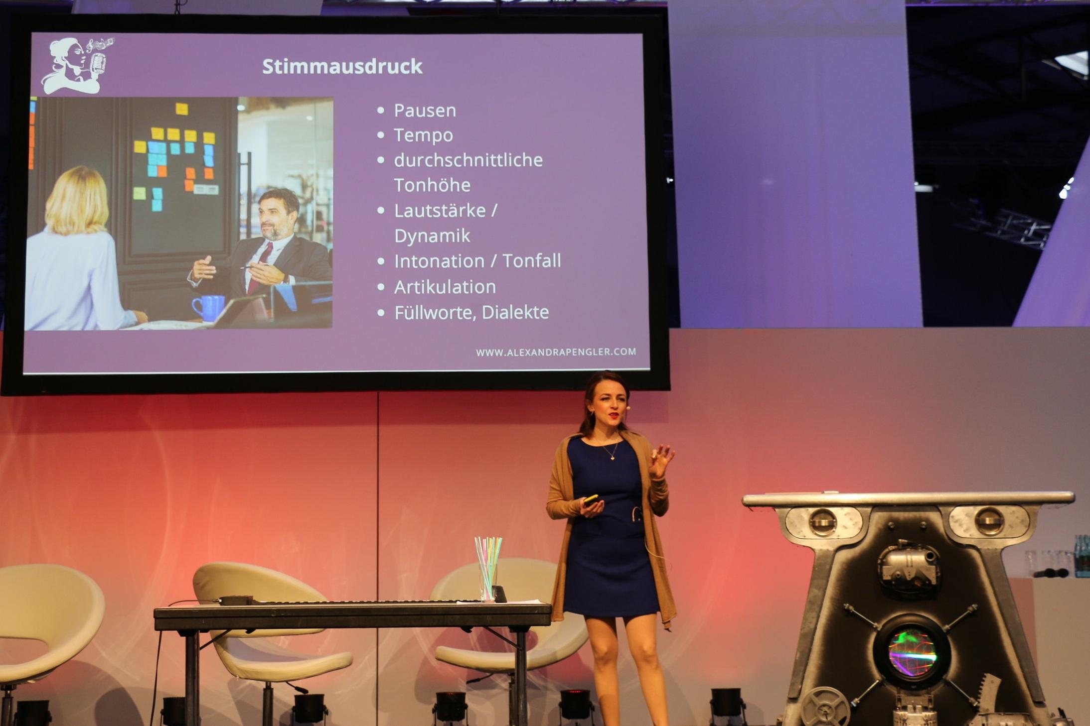 Alexandra Pengler Vocal Coach at  BrandEx  2019 in Dortmund
