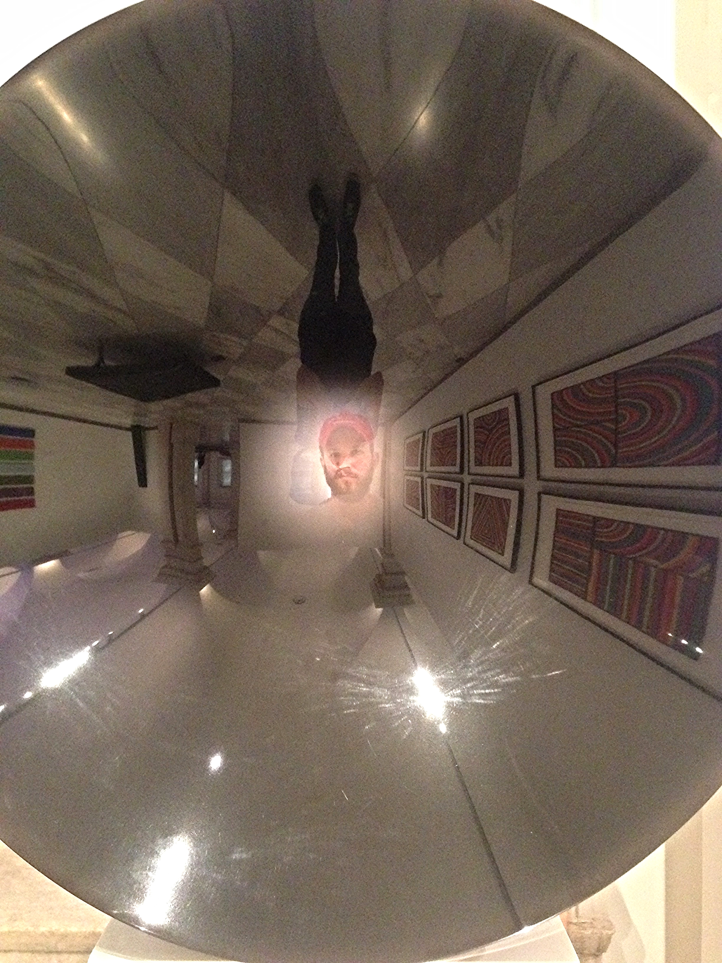 Photo of Billy Aaron Brown in a Sculpture at the Smithsonian American Art Museum