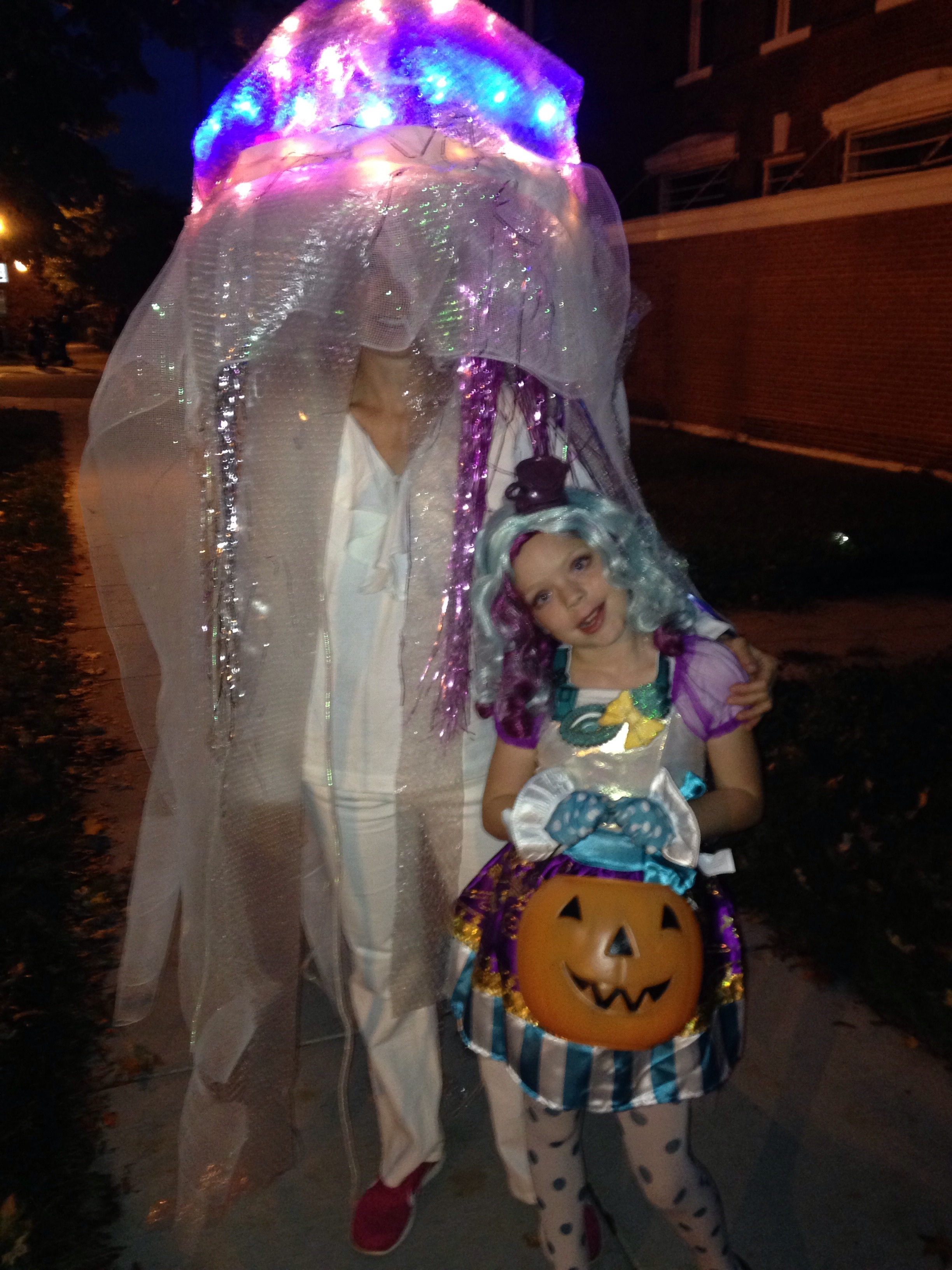Here I am with my daughter on Halloween.