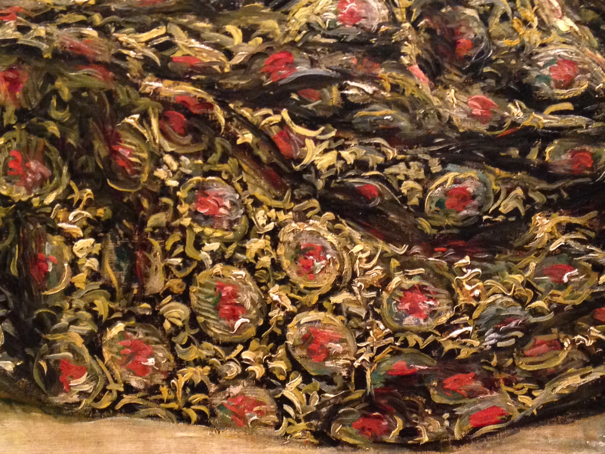 "detail of cloth in Auguste Renoir's ""Odalisque"""
