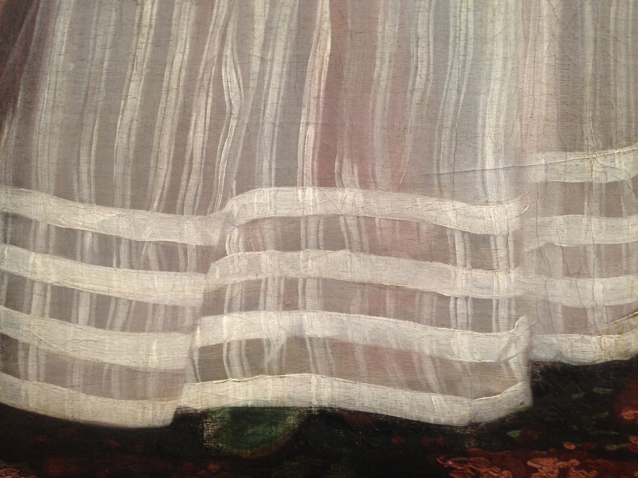 "detail of dress hem in John Singleton Copley's ""The Copley Family"""