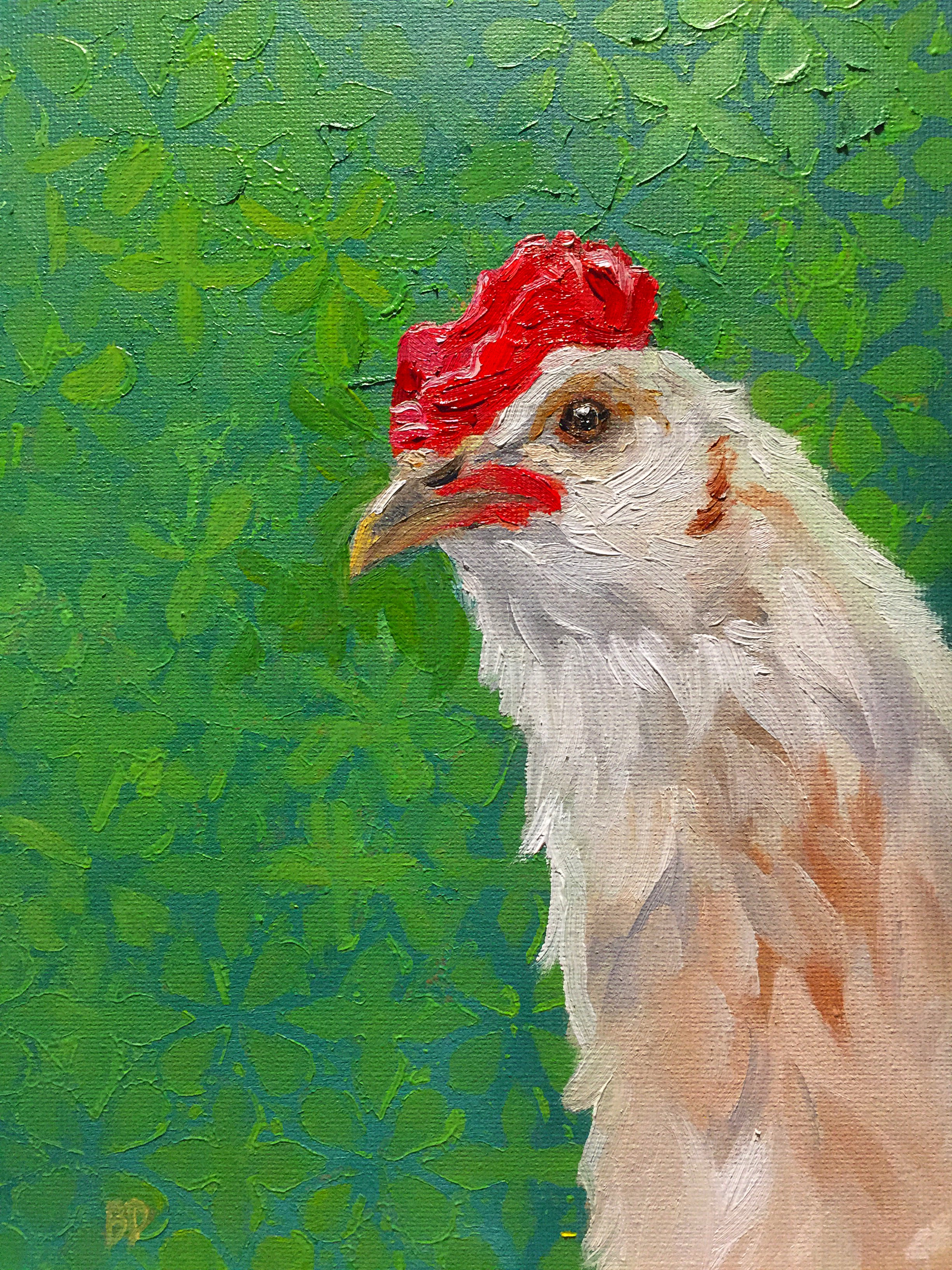 "Little Chick, 9.5 x 7"", oil on canvas"