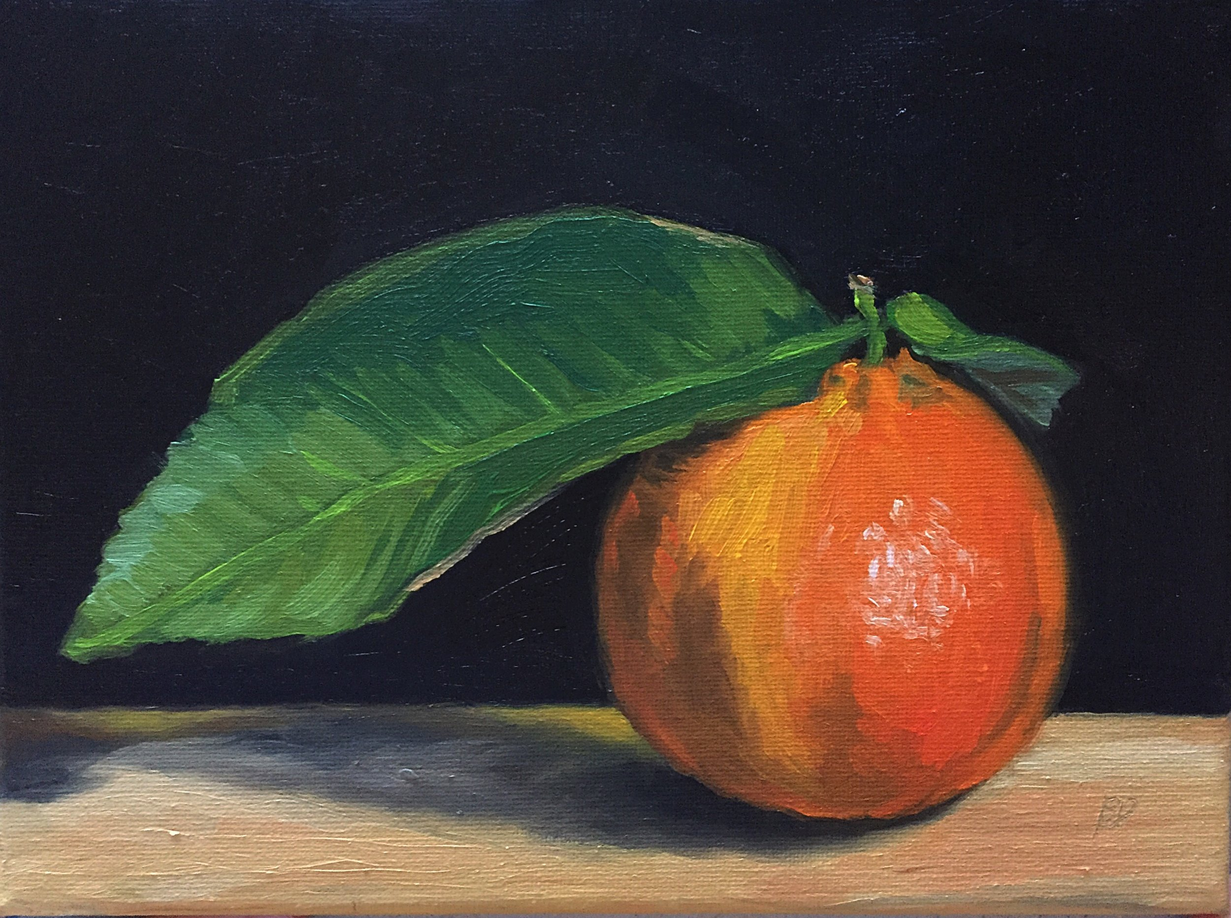 """My Darling Clementine #3, 9.5"""" x 7"""", oil on canvas."""