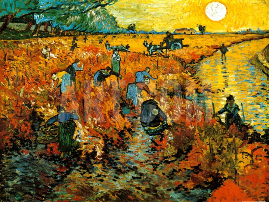 The Red Vineyard at Arles, Vincent Van Gogh (the only painting he sold in his lifetime)