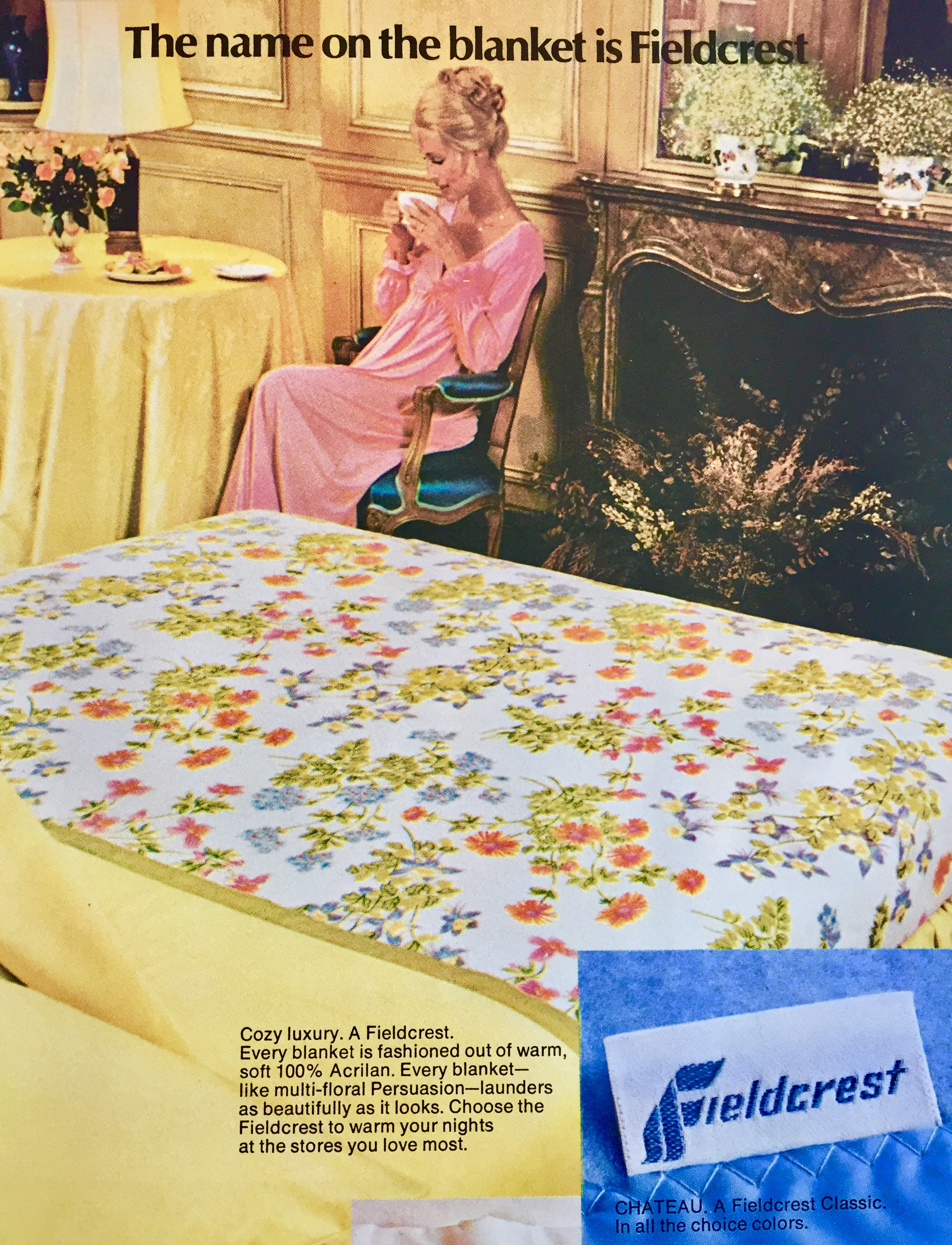 Even admiring the sheets is enough of a reason to relax and enjoy your coffee and cigarettes. (Hey, I think my great aunt had those sheets.)