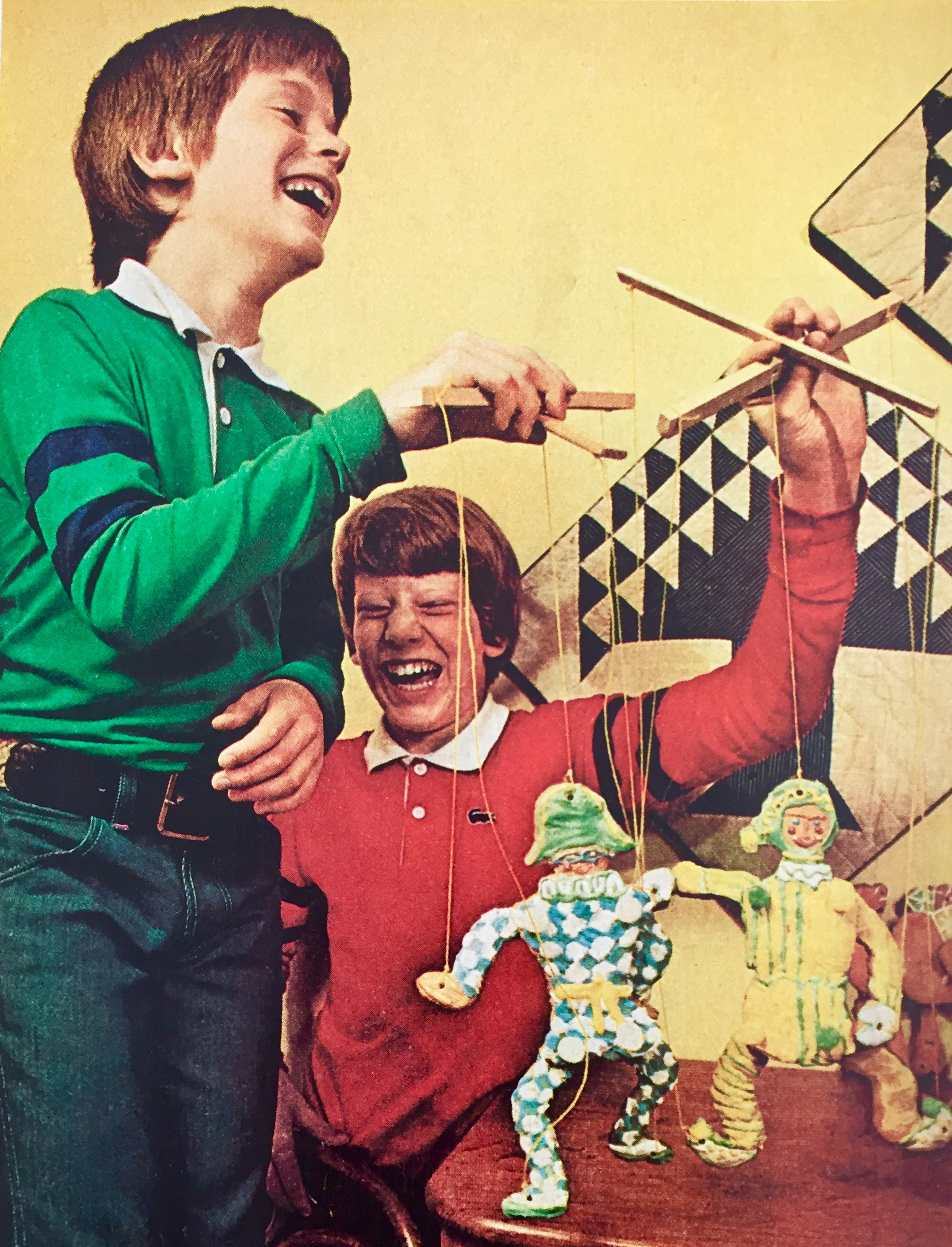 See, I told you growing up in the seventies was great. We didn't need fidget spinners or video games. Look how much giddy fun we could have with puppets.