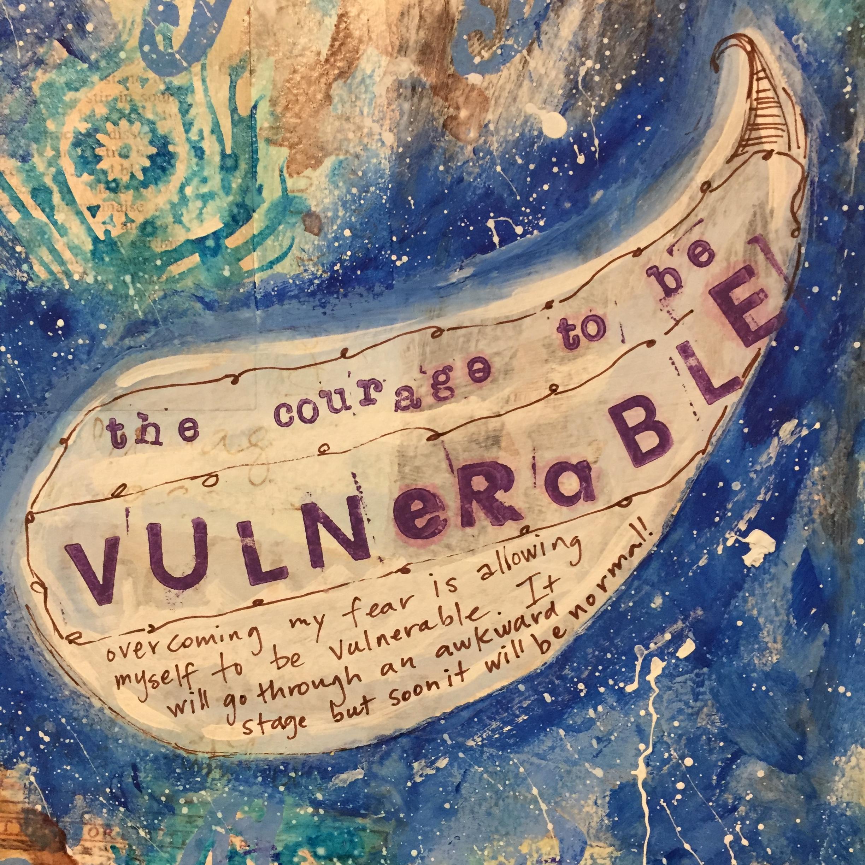 """Vulnerable"" mixed media, Beth Dougherty"