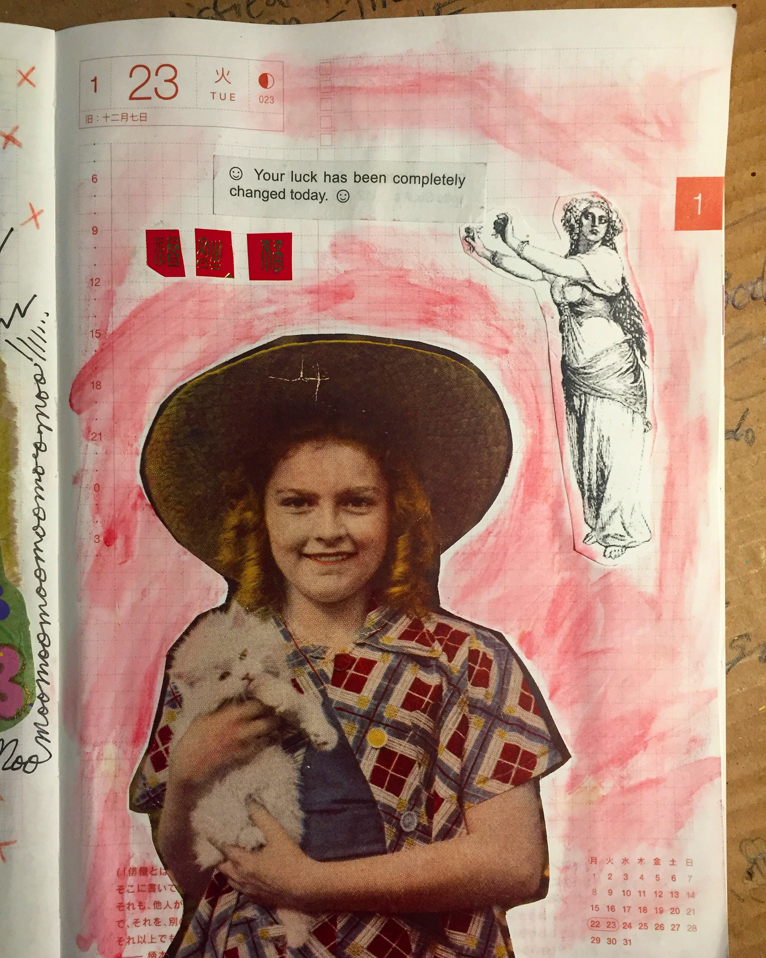 "My art journal page from the day I auditioned for ""Inherit the Wind."" Coincidence? I think not."
