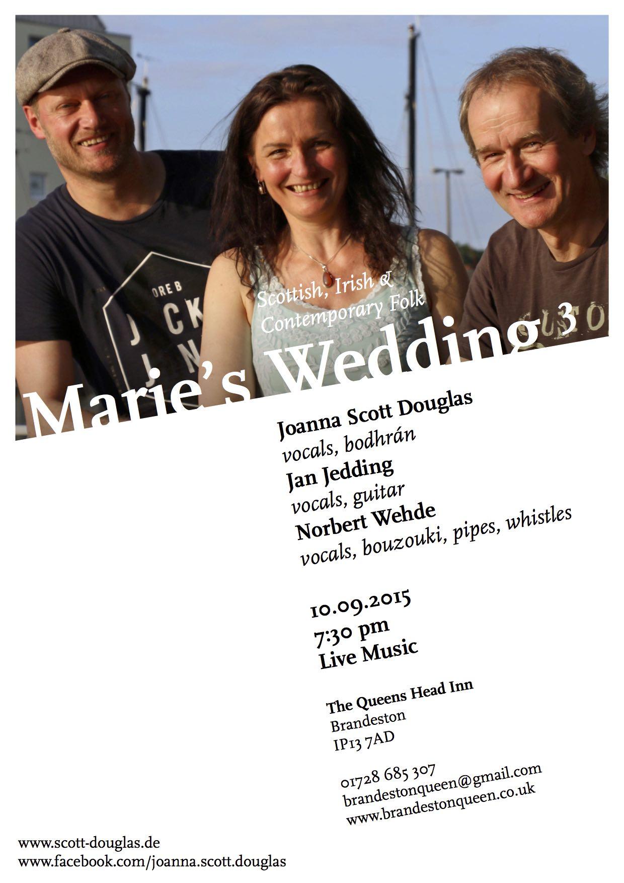 Marie's Wedding Flyer