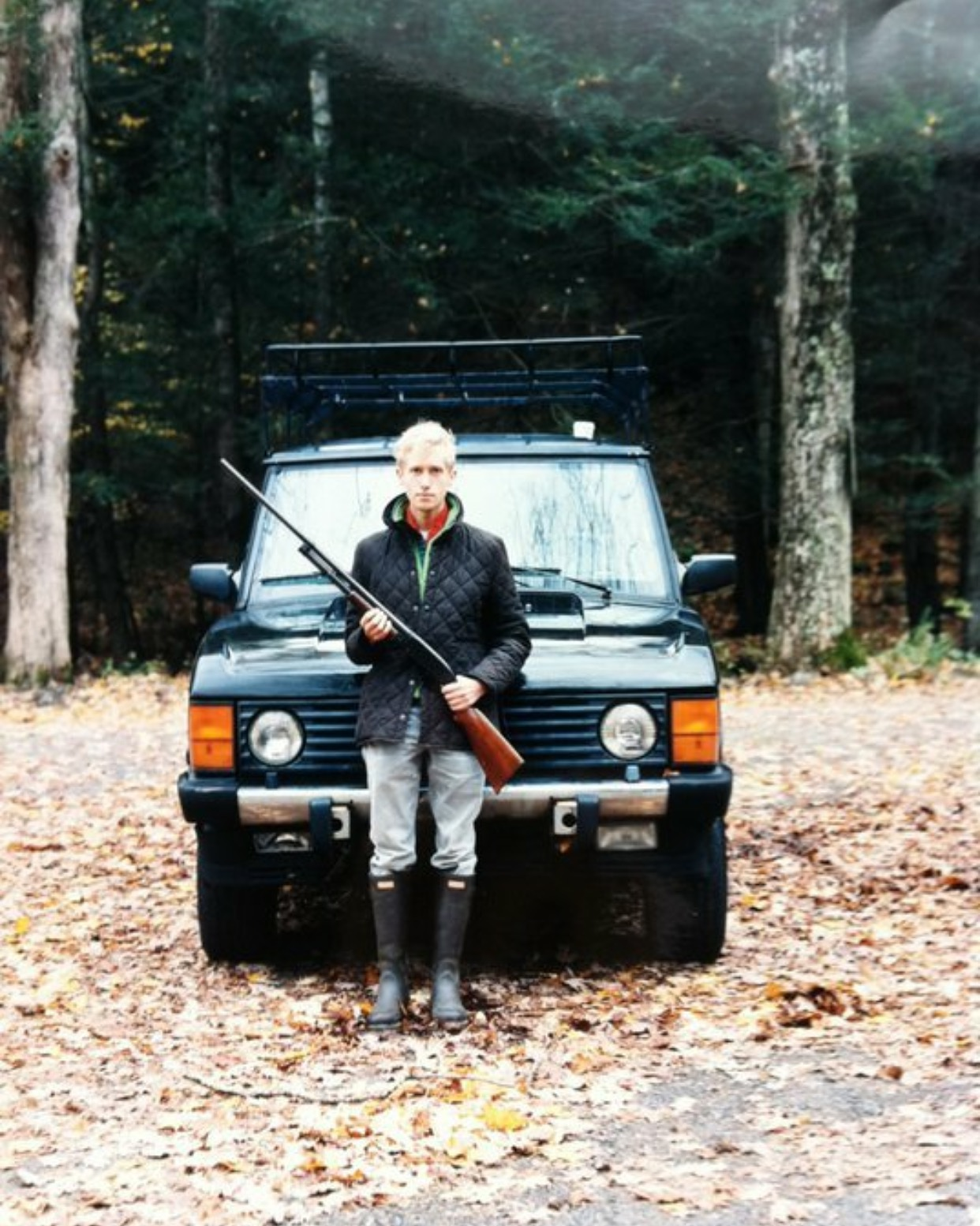 Me and my first Range Rover. Photo by Alyse Dufour