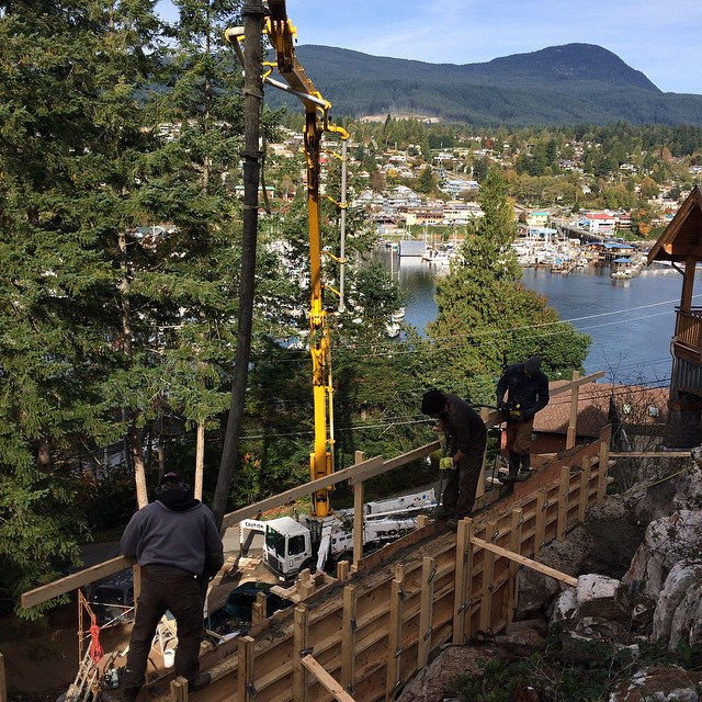 Space Builders , Click Homes jobsite  Lower Gibsons