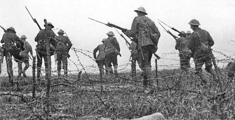 The allies had plainly learned nothing, as the brutal inefficiency of the Gallipoli campaign was repeated ad nauseum on the Somme, where mindless tactics and apocalyptic conditions combined to forge hell on earth .