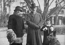A rare photo of Wilhelm with his second wife, Hermine Reuss of Greiz