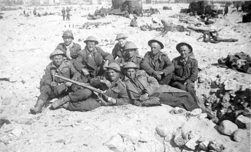 The real Dunkirk - the 59th Staffordshire regiment awaiting evacuation.