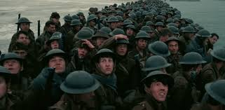 There's something jarring about seeing so many British soldiers packed so tightly together as they await evacuation. The vulnerability of Britain was left out in the open for all to see in  Dunkirk .