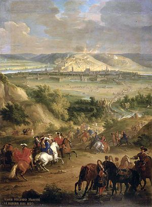 The siege of Namur in 1692, one of many occasions where French military supremacy was on show