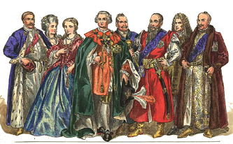 The traditional dress of the magnates in the Polish Lithuanian Commonwealth. Magnates were like the top tier of nobility in the Republic, and tended to wield a high level of control over their spheres of influence.