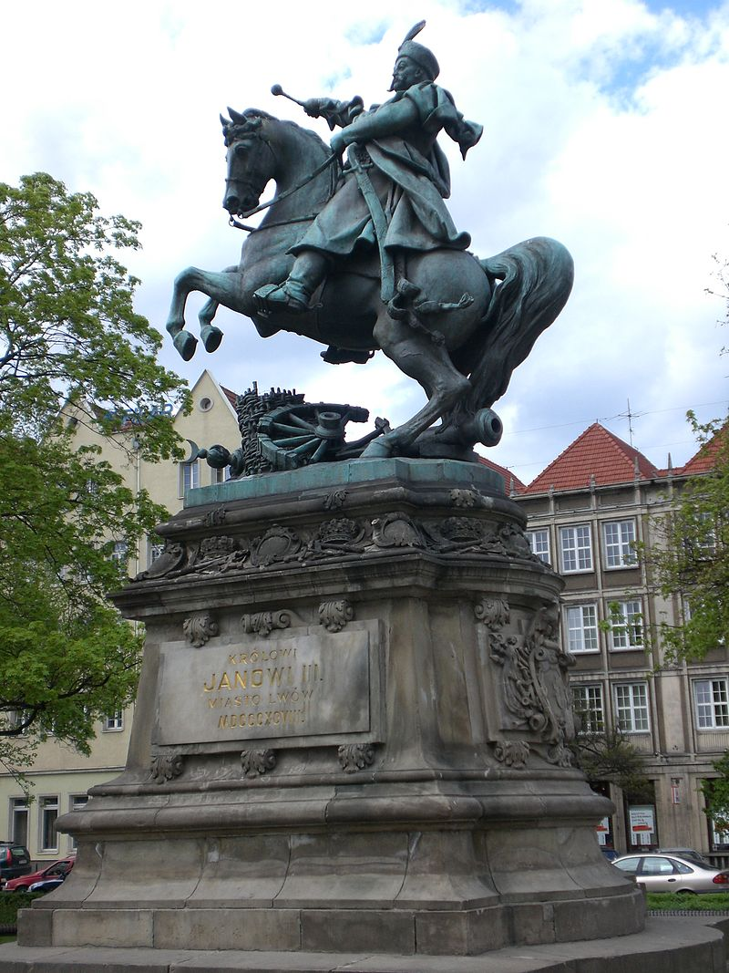 A monument to Sobieski which was originally from Lvov, but which now resides in Gdansk (Danzig).