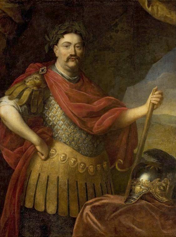 Sobieski in his coronation portrait, c. 1676.