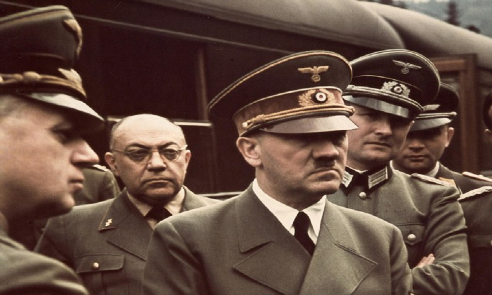 Morell (standing behind Hitler) was always in the background, and his previously unseen notes shed an unprecedented light on Hitler's relationship with drugs.
